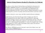 asbestos national emission standard for hazardous air pollutants