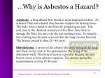 why is asbestos a hazard