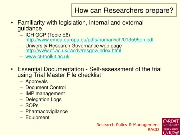 How can Researchers prepare?