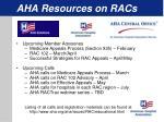 aha resources on racs1