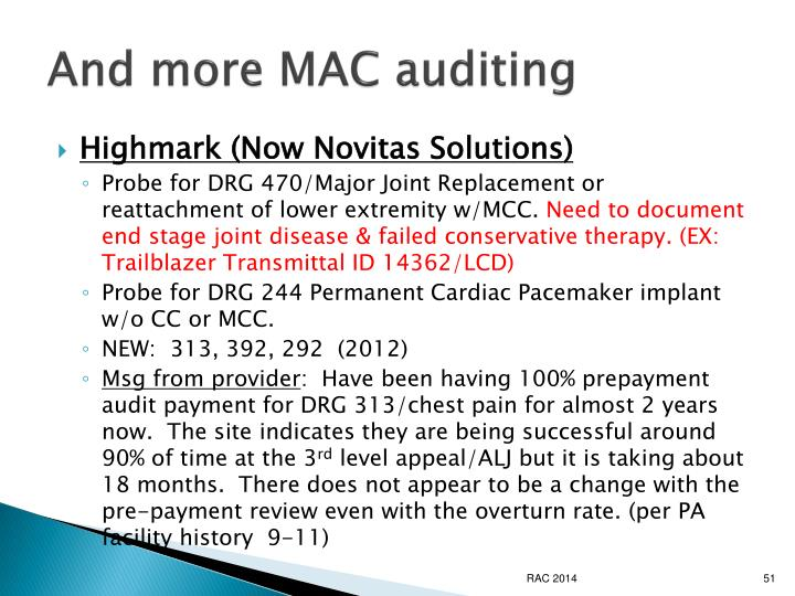 And more MAC auditing