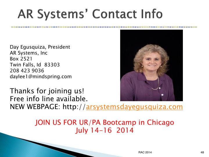 AR Systems' Contact Info