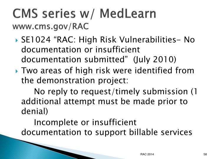 CMS series w/