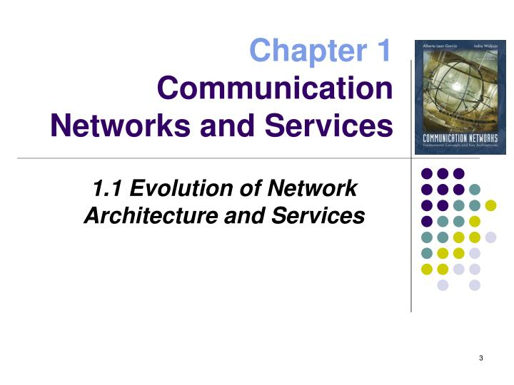 Chapter 1 communication networks and services1