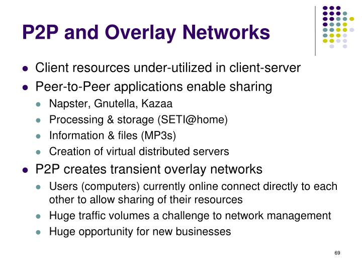 P2P and Overlay Networks