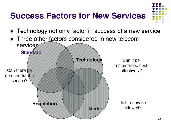 Success Factors for New Services
