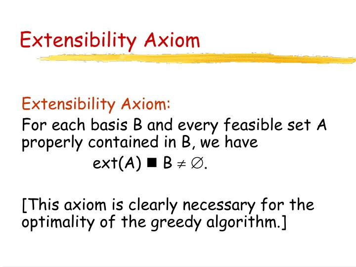 Extensibility Axiom