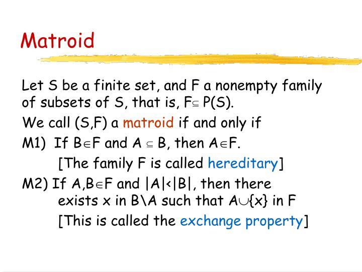 Matroid