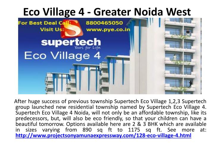 eco village 4 greater noida west n.