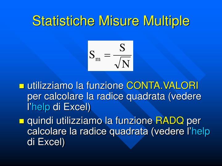 Statistiche Misure Multiple