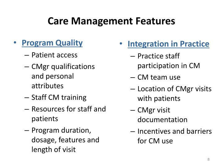Care Management Features