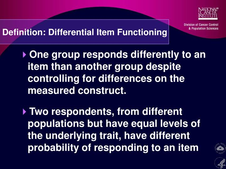 Definition: Differential Item Functioning