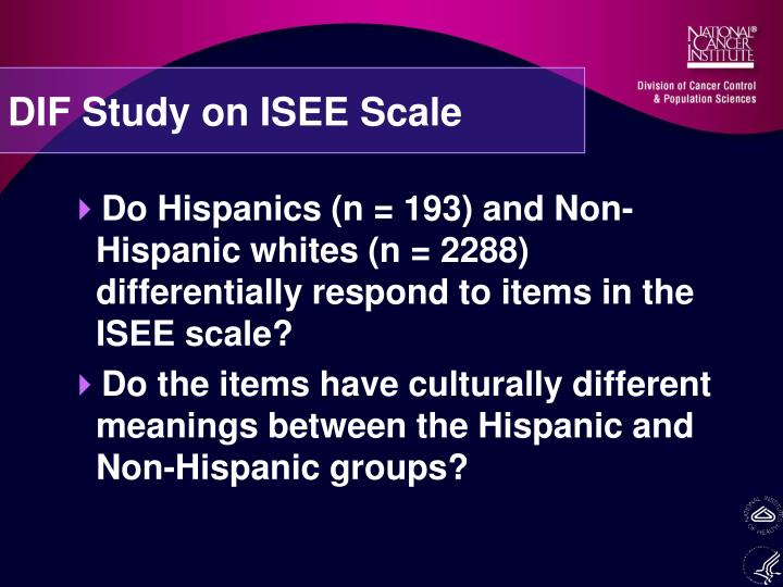 DIF Study on ISEE Scale