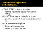 comparison of applicable methodologies3
