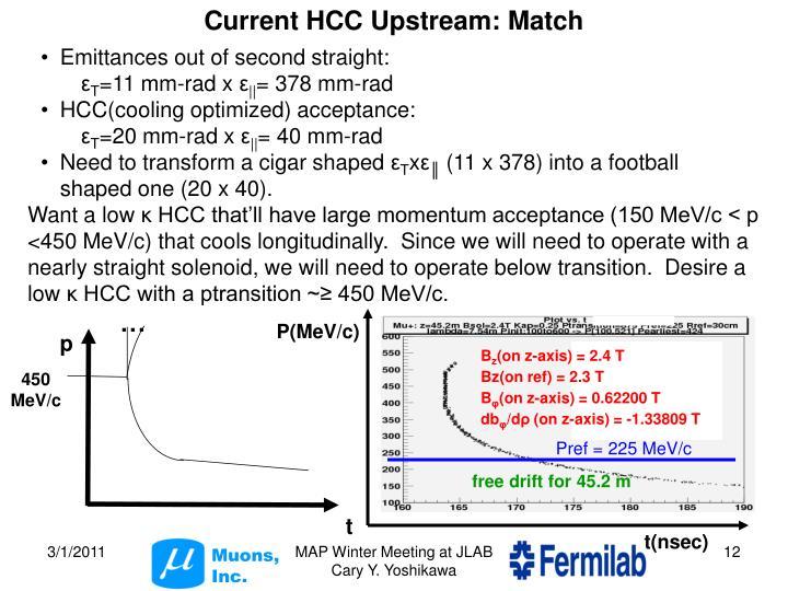 Current HCC Upstream: Match