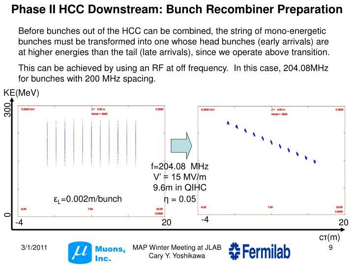 Phase II HCC Downstream:
