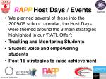 r a p p host days events