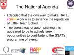 the national agenda