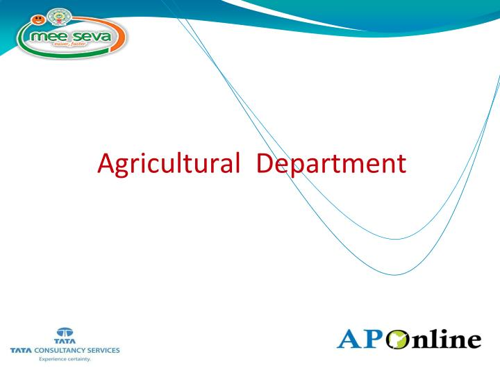 agricultural department n.