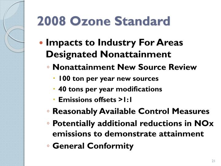 2008 Ozone Standard