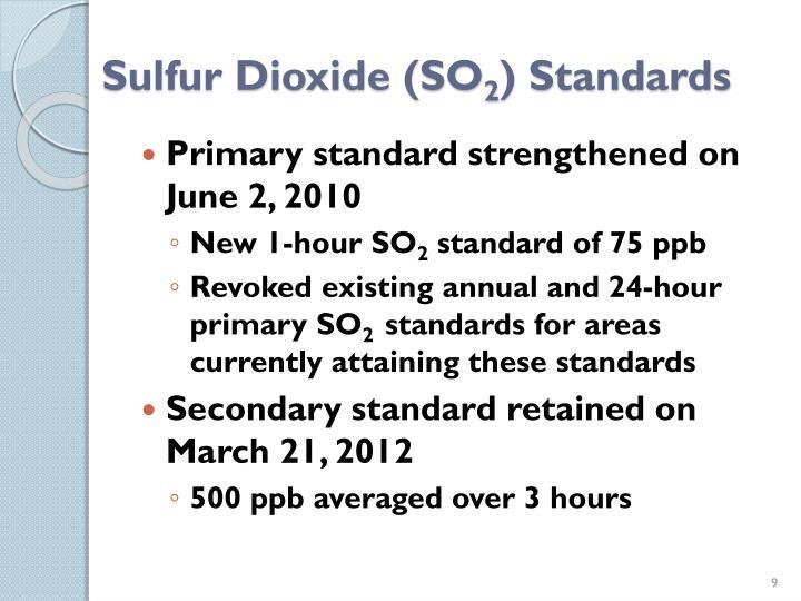 Sulfur Dioxide (SO