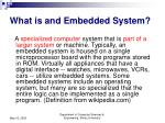 what is and embedded system