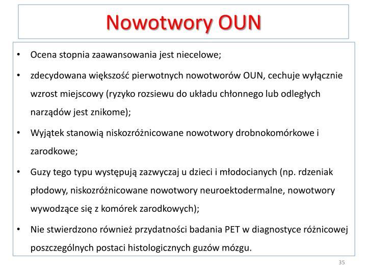 Nowotwory OUN