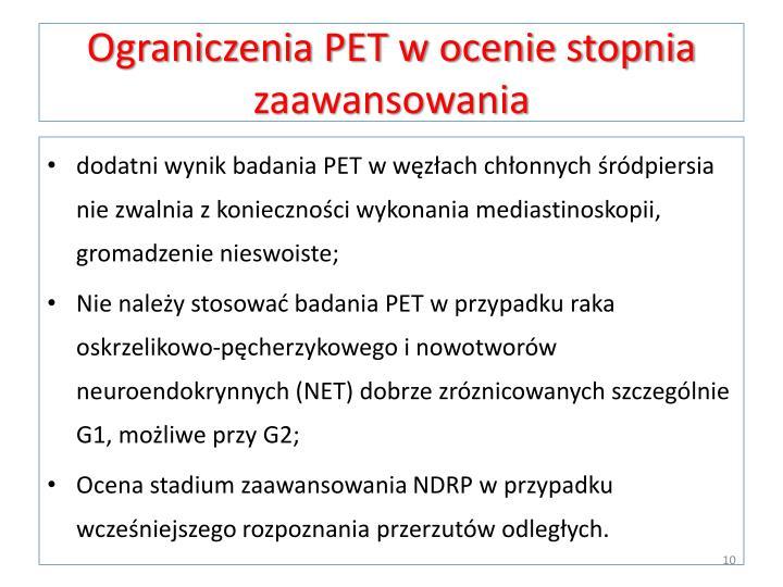 Ograniczenia PET w ocenie stopnia zaawansowania