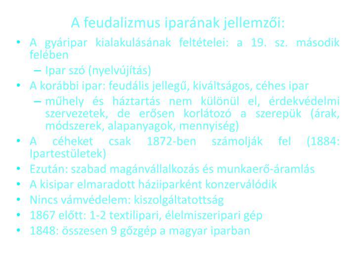 A feudalizmus ipar