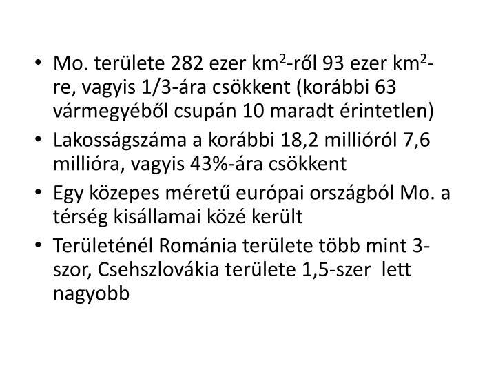 Mo. területe 282 ezer km