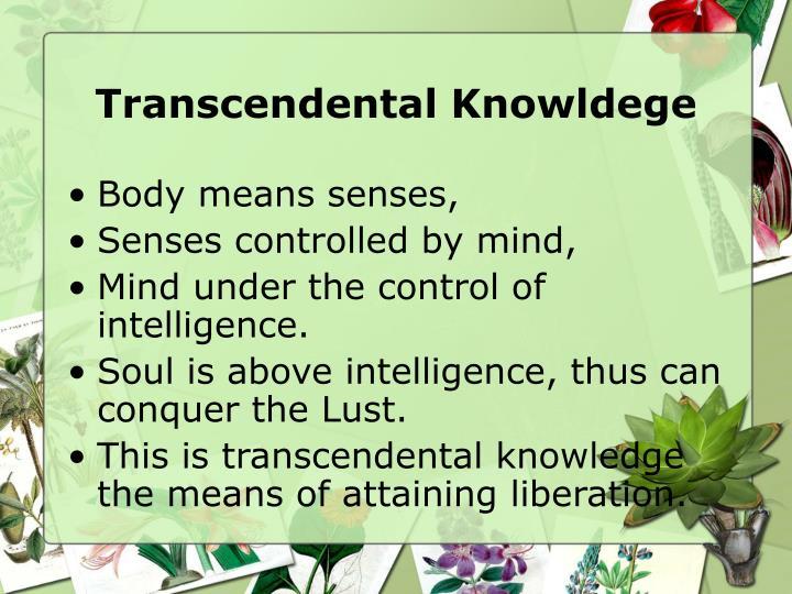 Transcendental Knowldege