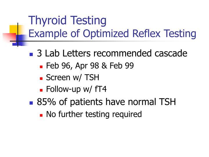 Thyroid Testing