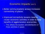 economic impacts con t