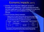 economic impacts con t5