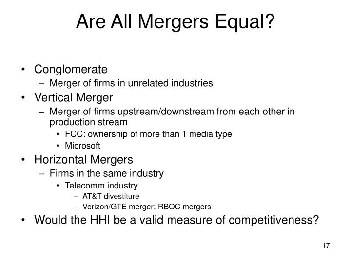 Are All Mergers Equal?
