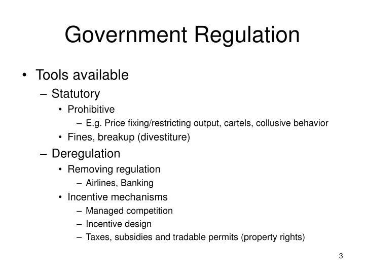 Government regulation1