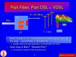 part fiber part dsl vdsl