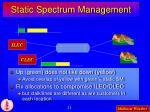 static spectrum management
