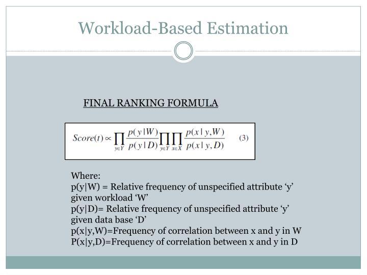 Workload-Based Estimation