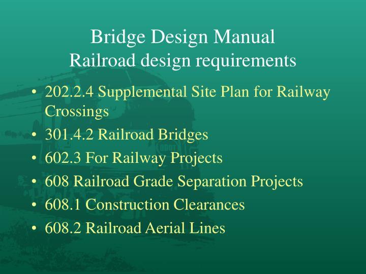 Bridge Design Manual