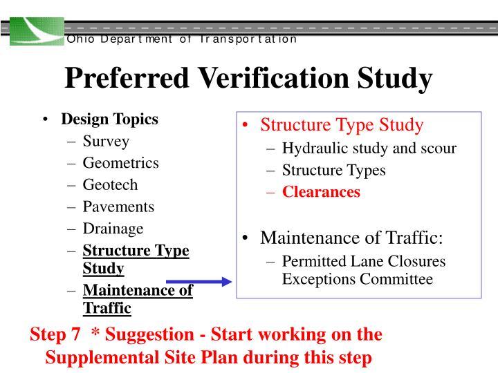 Preferred verification study1