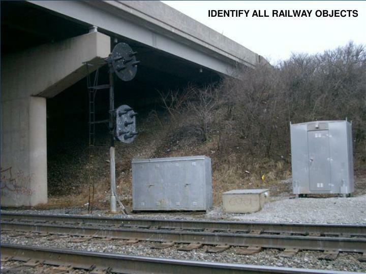 IDENTIFY ALL RAILWAY OBJECTS