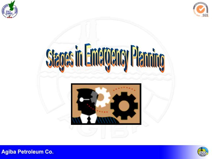 Stages in Emergency Planning