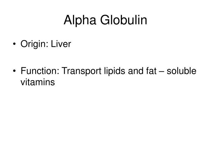 Alpha Globulin