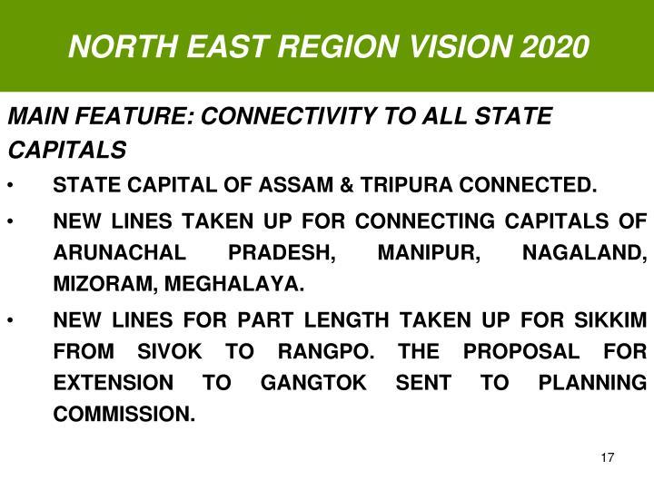 NORTH EAST REGION VISION 2020