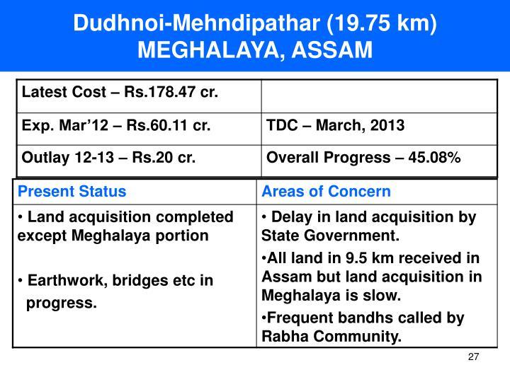 Dudhnoi-Mehndipathar (19.75 km)