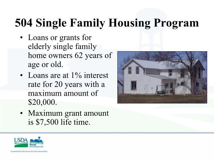 504 Single Family Housing Program