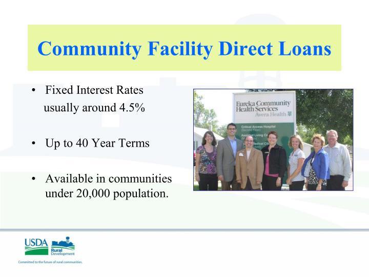 Community Facility Direct Loans