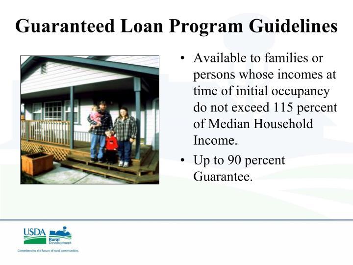 Guaranteed Loan Program Guidelines