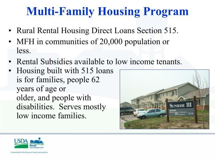 Rural Rental Housing Direct Loans Section 515.